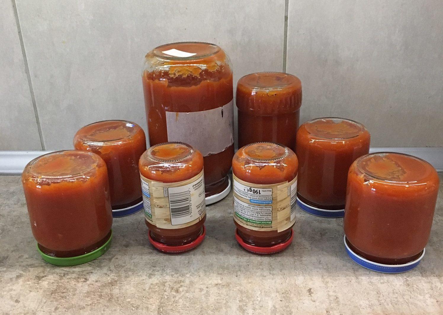 Ketchup domowy z cukinii, home made ketchup